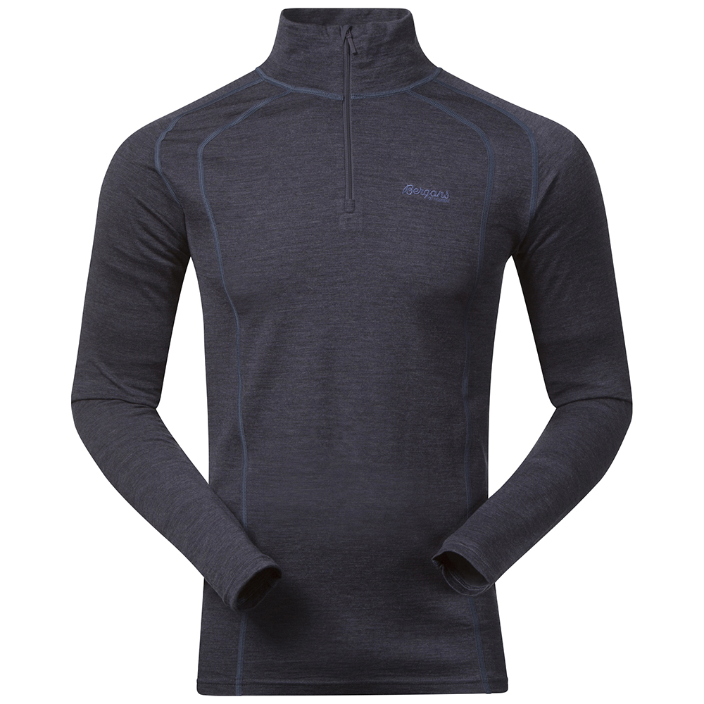 168989 Fjellrapp Half Zip NightBlue Mel
