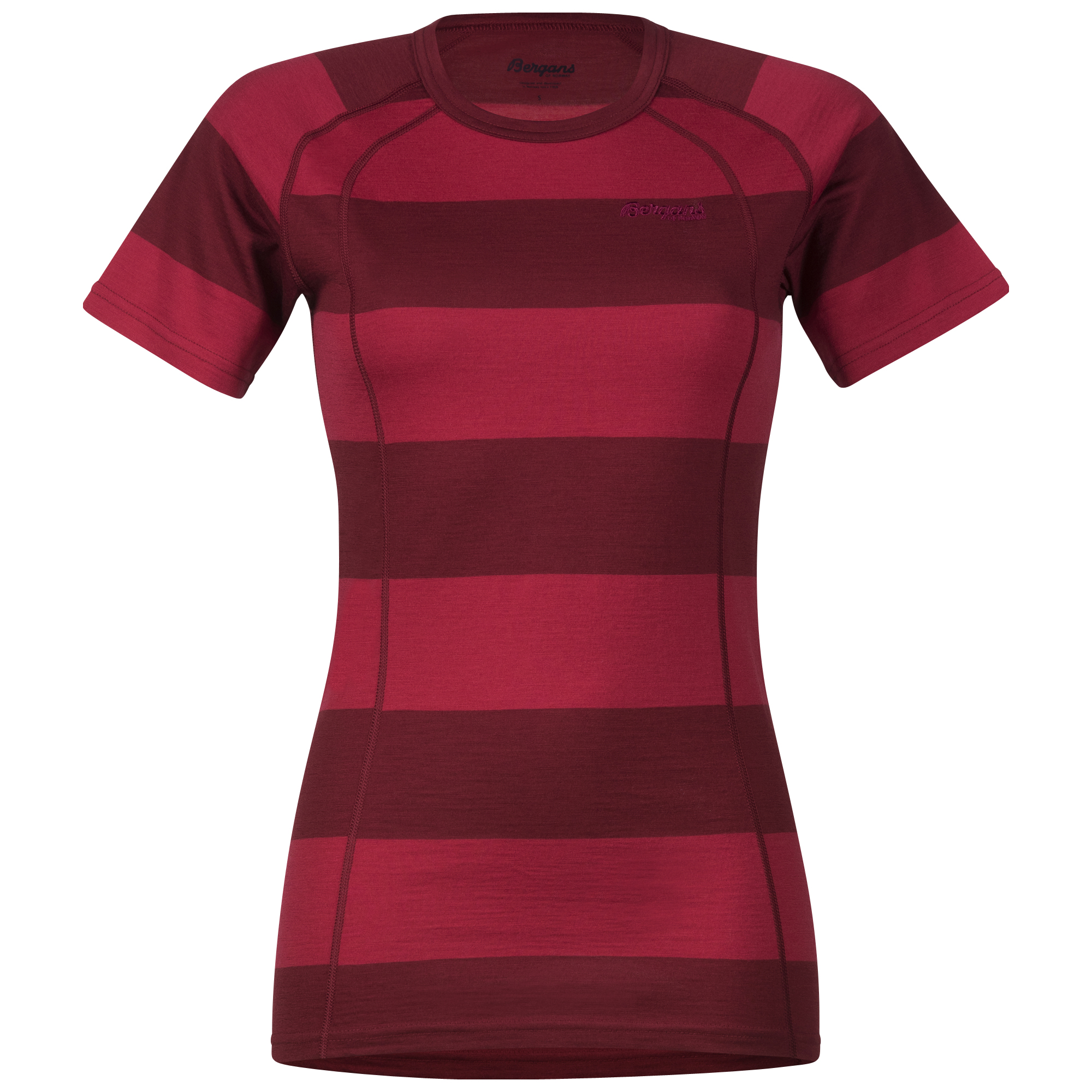 182532 Fjellrapp Lady Tee Red/Burgundy Striped