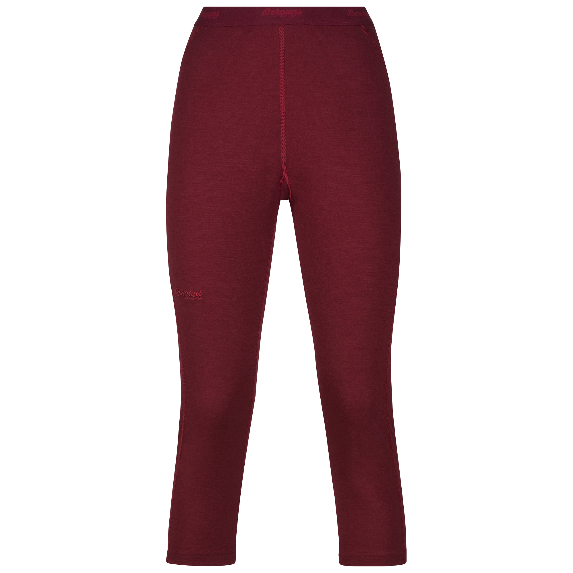 182557 Fjellrapp Lady 3/4 Tights Burgundy/Red